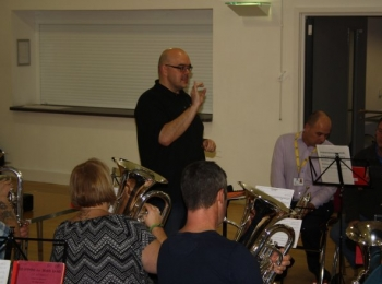 Rehearsal with Glyn Williams - 31st January 2017