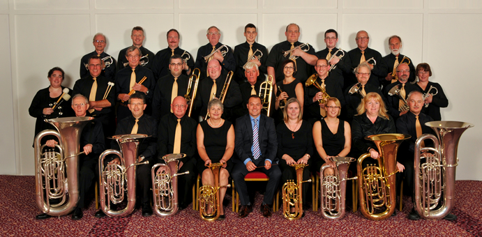 The band at the National Finals at Cheltenham 2012