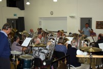 Picture of the final Norfolk Wherry Brass rehearsal before Cheltenham